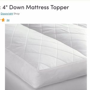 real down feather mattress topper feather bed